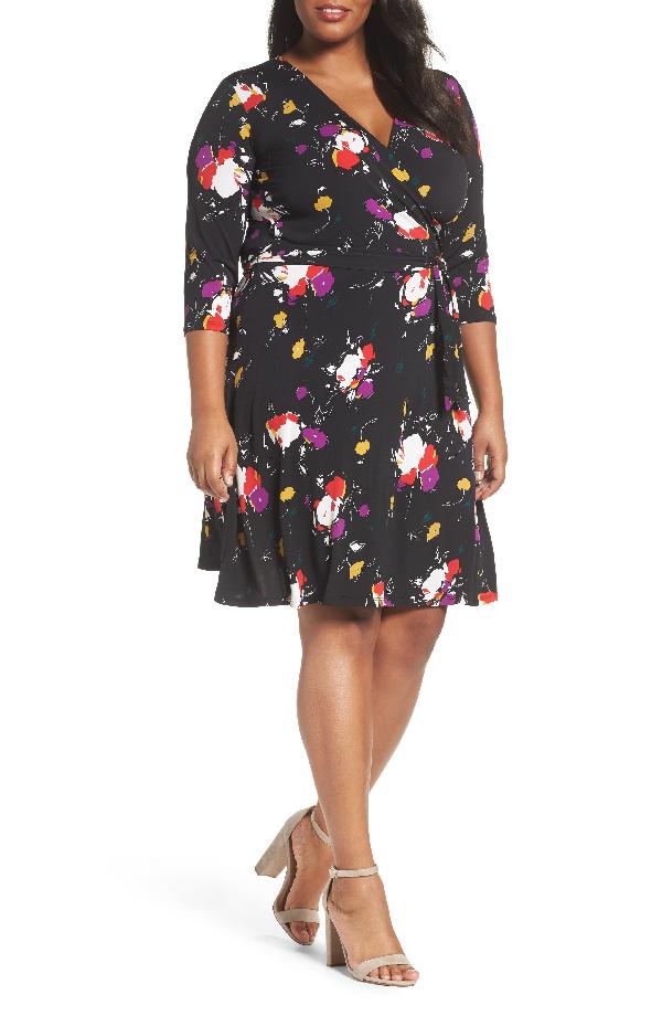 Leota Wrap Dress In Fleur Nouveau