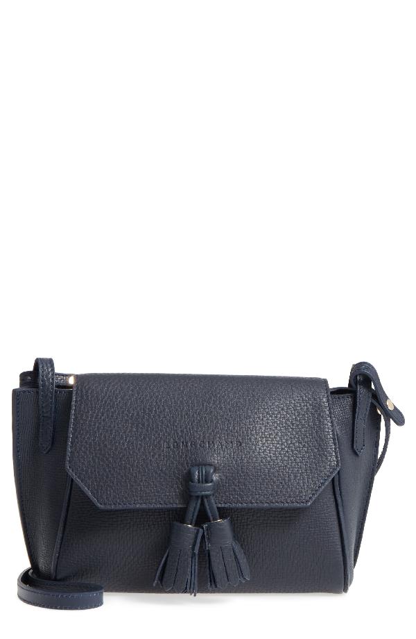 Longchamp Penelope Leather Crossbody - Blue In Midnight