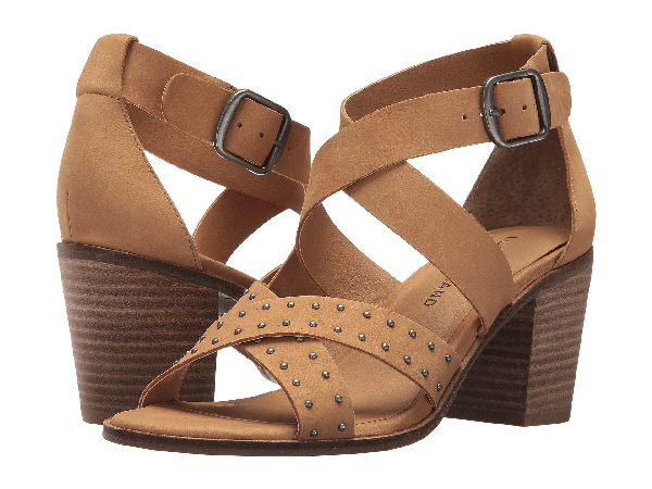 Lucky Brand Kesey Block Heel Sandal In Sandbox
