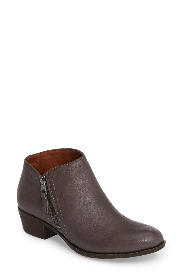 Lucky Brand Brielley 2 Asymmetrical Bootie In Greywolf Leather