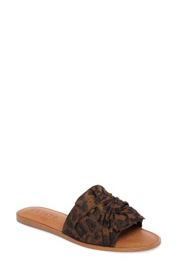 1.state Chevonn Slide Sandal In Brown Multi Fabric