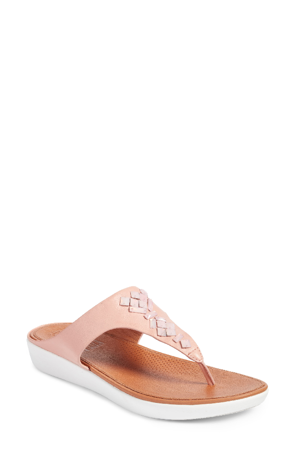 Fitflop Banda Sandal In Dusty Pink Leather