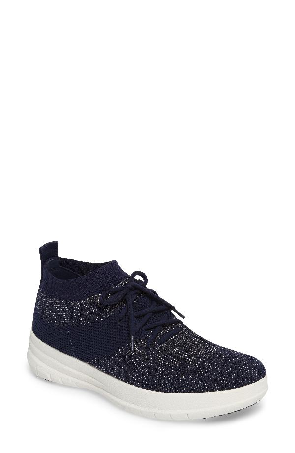 Fitflop Uberknit(tm) Slip-on High-top Sneaker In Midnight Navy Fabric
