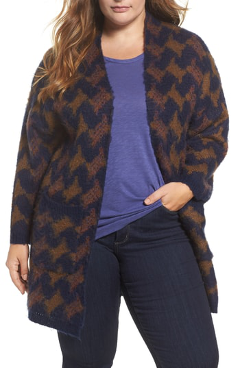 Lucky Brand Trendy Plus Size Iona Open-front Cardigan In Multi