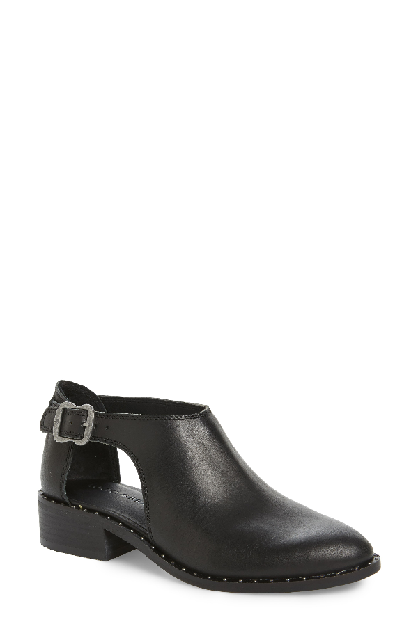 Lucky Brand Women's Giovanna Cut-out Oxfords Women's Shoes In Black Leather