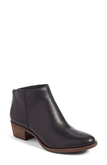 Lucky Brand Bremma Bootie In Black Leather