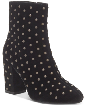 Lucky Brand Women's Wesson Studded Booties Women's Shoes In Black