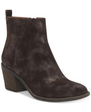 Lucky Brand Women's Natania Block-heel Booties Women's Shoes In Bracken