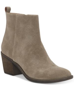 Lucky Brand Women's Natania Block-heel Booties Women's Shoes In Brindle
