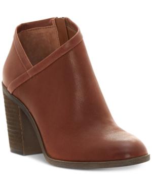 Lucky Brand Women's Salza Block-heel Booties Women's Shoes In Rye