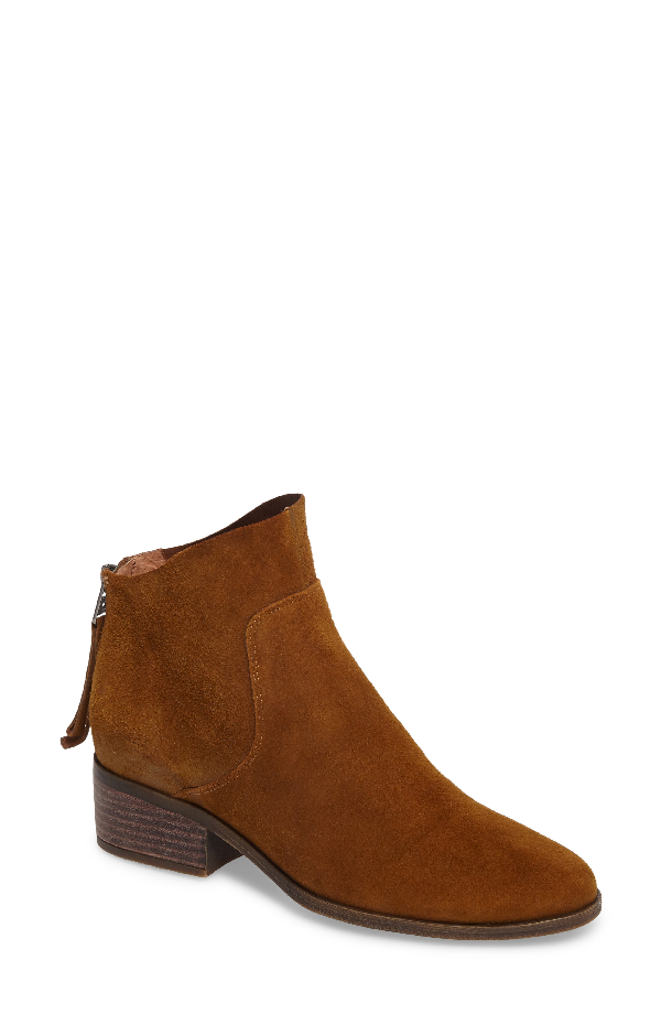 Lucky Brand Lahela Bootie In Tapenade Leather