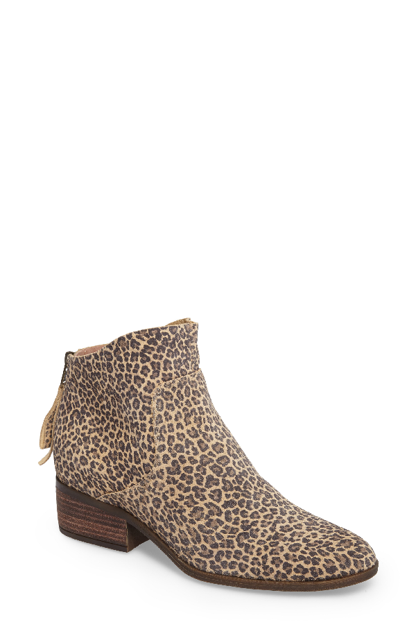 Lucky Brand Lahela Bootie In Sesame Leather