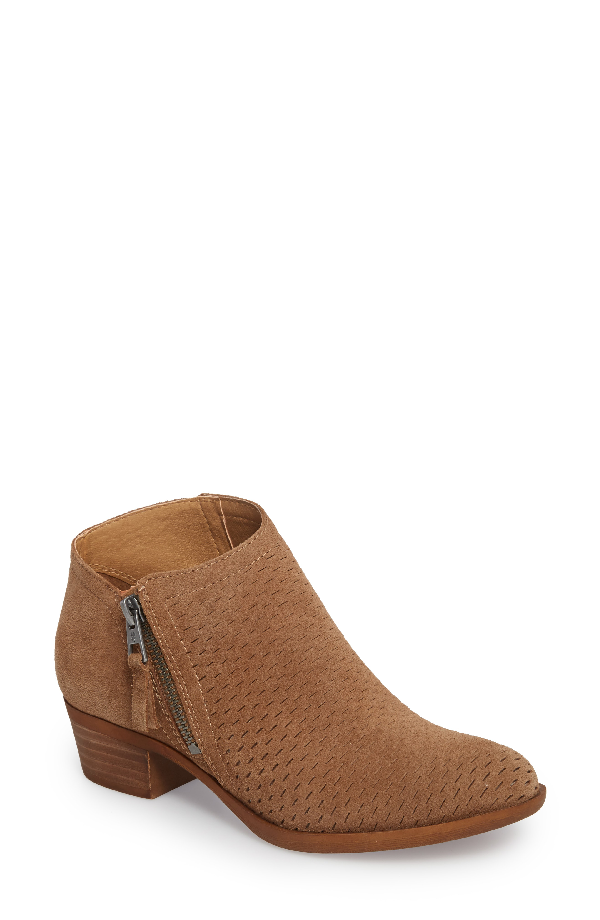 Lucky Brand Brielley Perforated Bootie In Sesame Suede