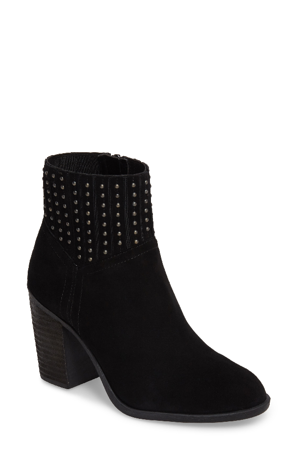 Lucky Brand Salome Embellished Bootie In Black Suede