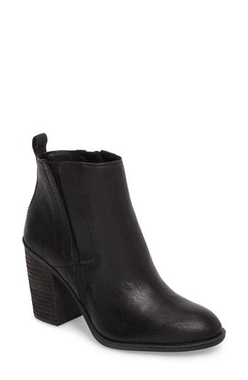 Lucky Brand Sassa Bootie In Black Leather