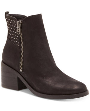 Lucky Brand Women's Kalie Studded Booties Women's Shoes In Black