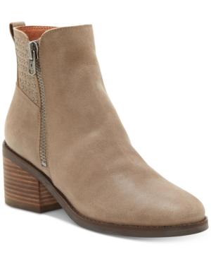 Lucky Brand Women's Kalie Studded Booties Women's Shoes In Brindle