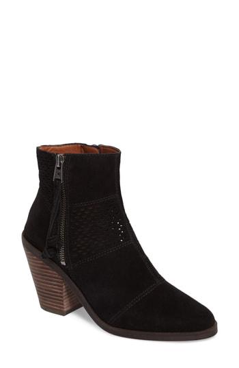 Lucky Brand Women's Ramses Block-heel Booties Women's Shoes In Black Suede