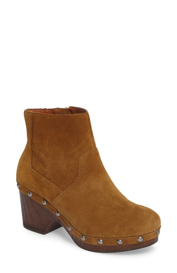 Lucky Brand Yasamin Studded Booties Women's Shoes In Tapenade Suede
