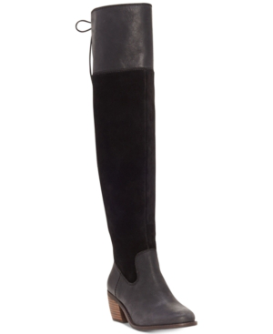 Lucky Brand Women's Komah Over-the-knee Boots Women's Shoes In Black