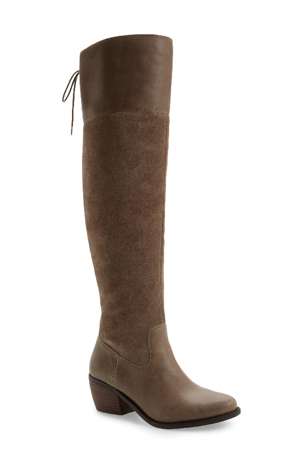 Lucky Brand Komah Over The Knee Boot In Brindle Leather
