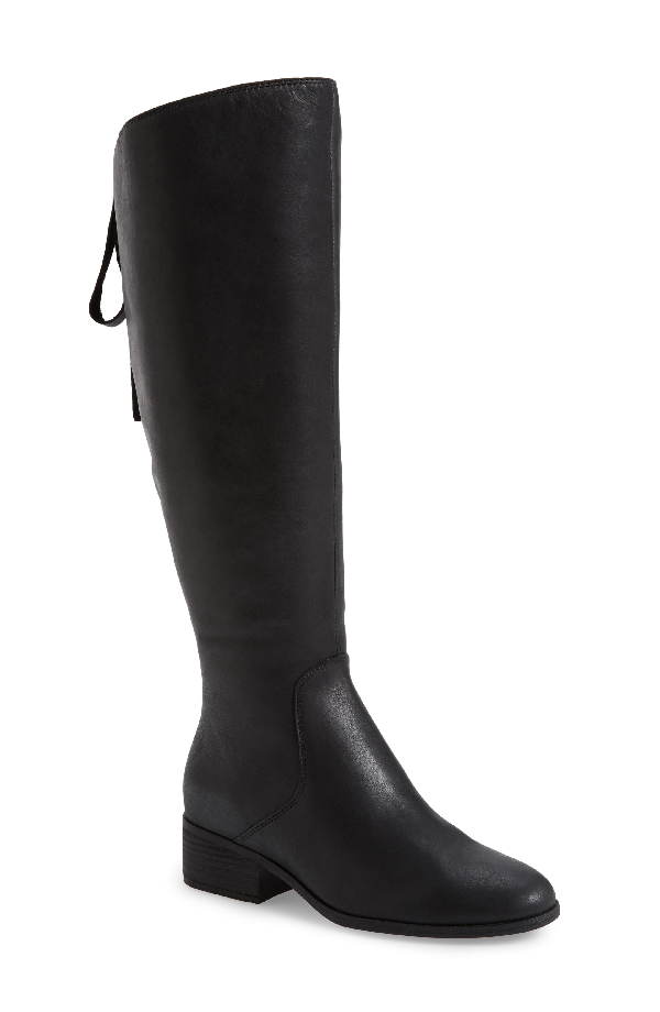 Lucky Brand Lanesha Over The Knee Boot In Black Leather