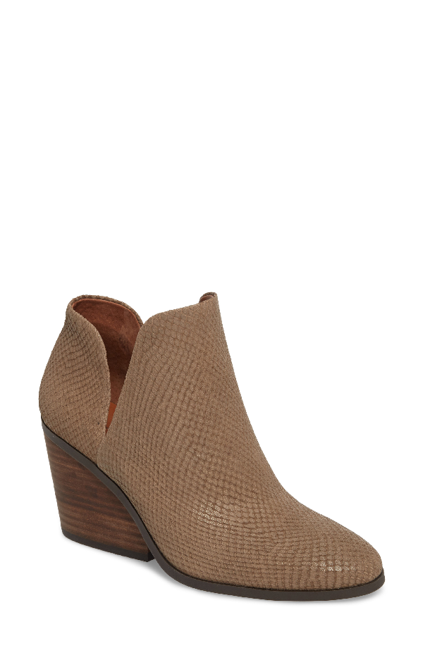 Lucky Brand Lezzlee Bootie In Brindle Leather