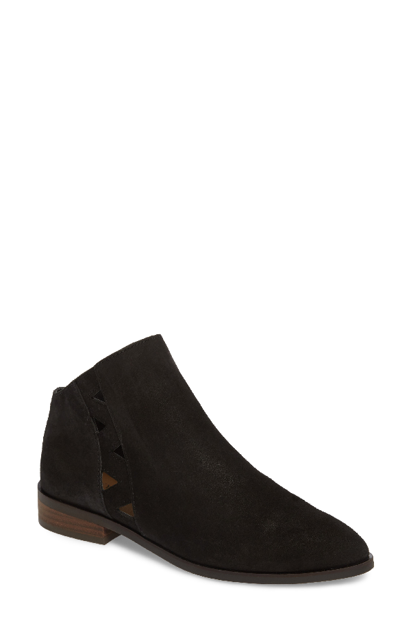 Lucky Brand Jakeela Bootie In Black Leather