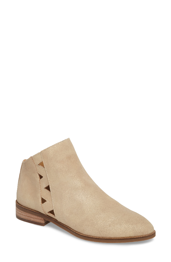 Lucky Brand Jakeela Bootie In Travertine Leather