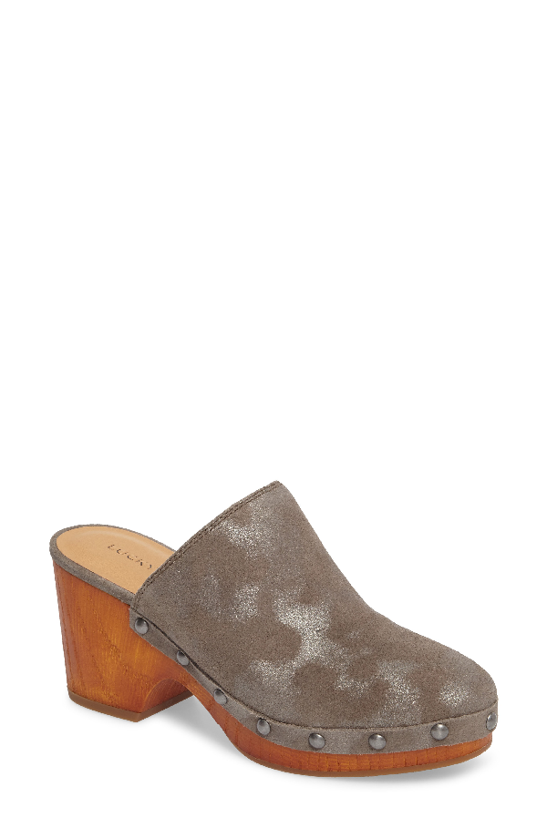 Lucky Brand Women's Yeats Mules Women's Shoes In Frost Leather