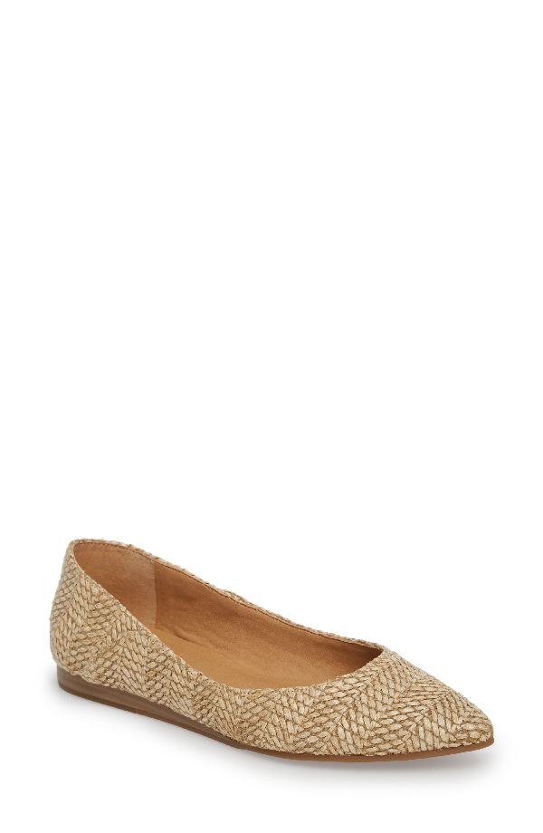 Lucky Brand Bylando Flat In Natural Leather