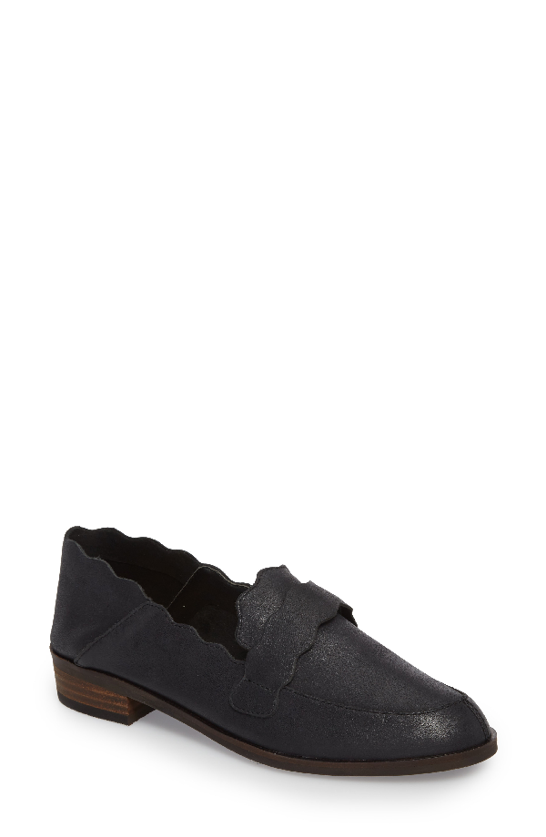 Lucky Brand Callister Loafer In Black Leather