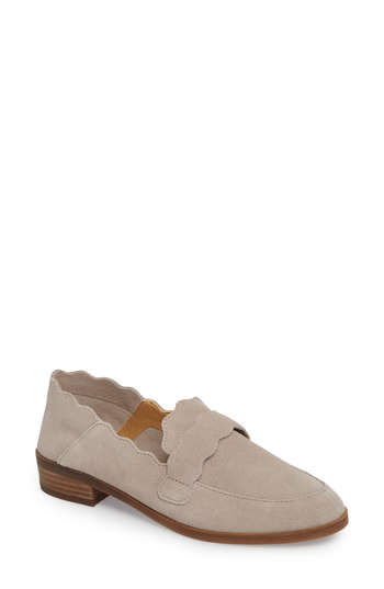 Lucky Brand Callister Loafer In Chinchilla Suede