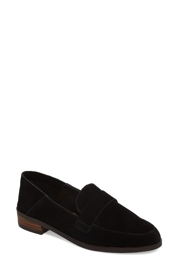 Lucky Brand Chennie Loafer In Black Suede