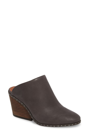 Lucky Brand Larsson2 Studded Mule In Storm Leather