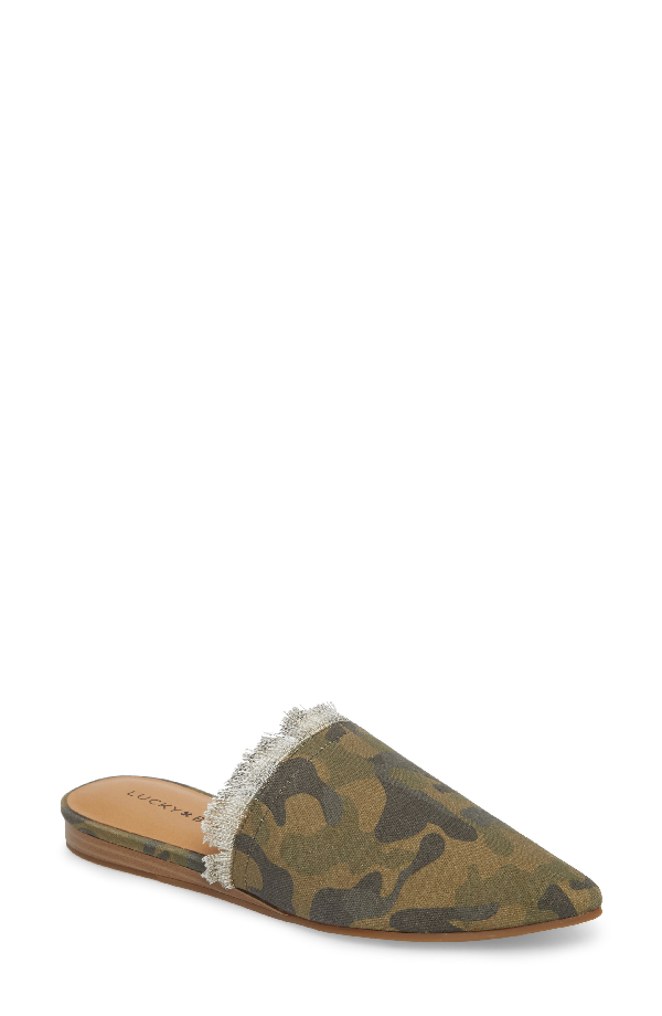 Lucky Brand Bapsee Mule In Military Green