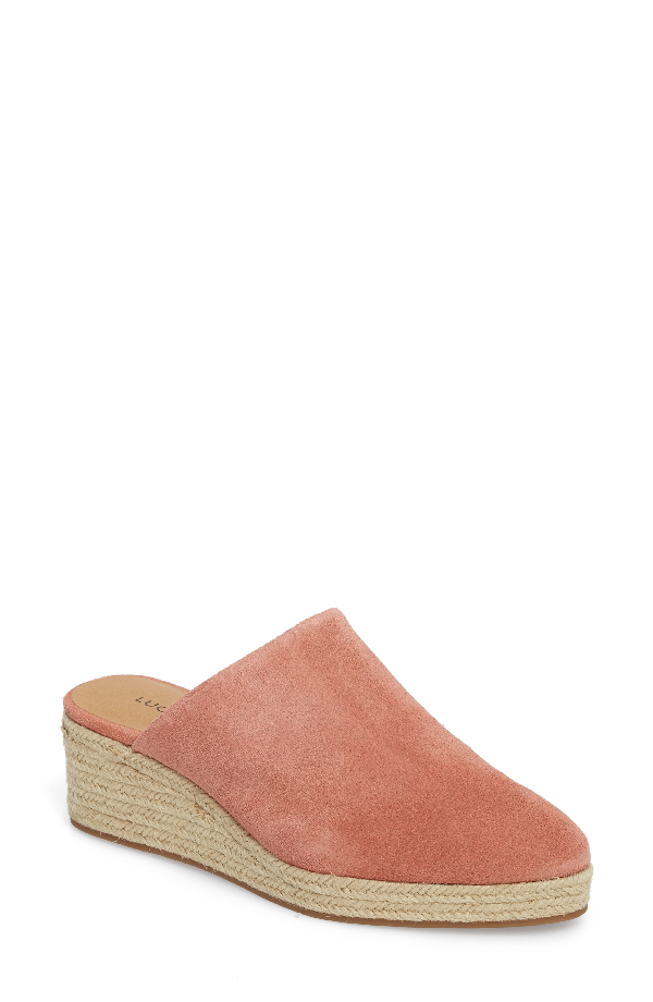 Lucky Brand Lidwina Espadrille Mule In Canyon Rose Suede