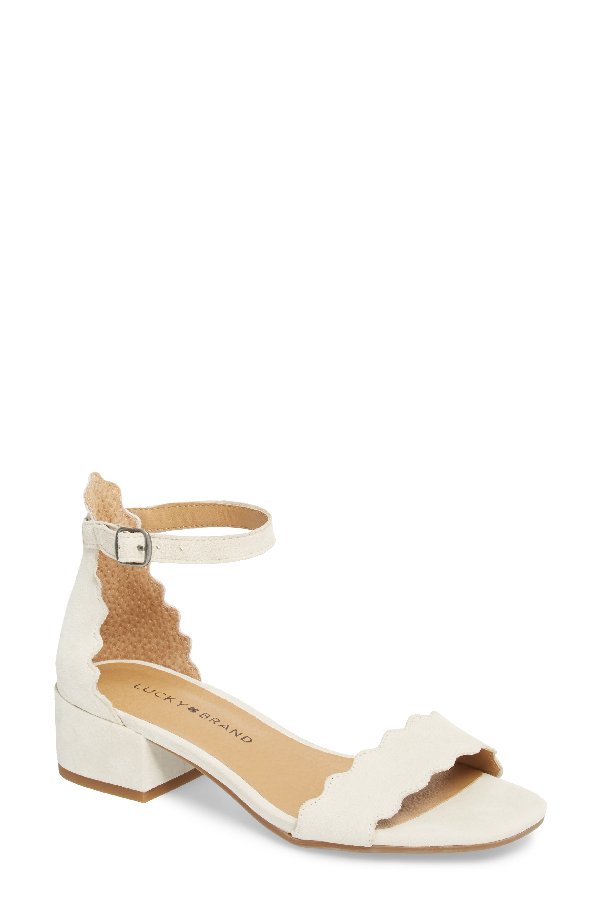 Lucky Brand Norreys Sandal In Sandshell Suede