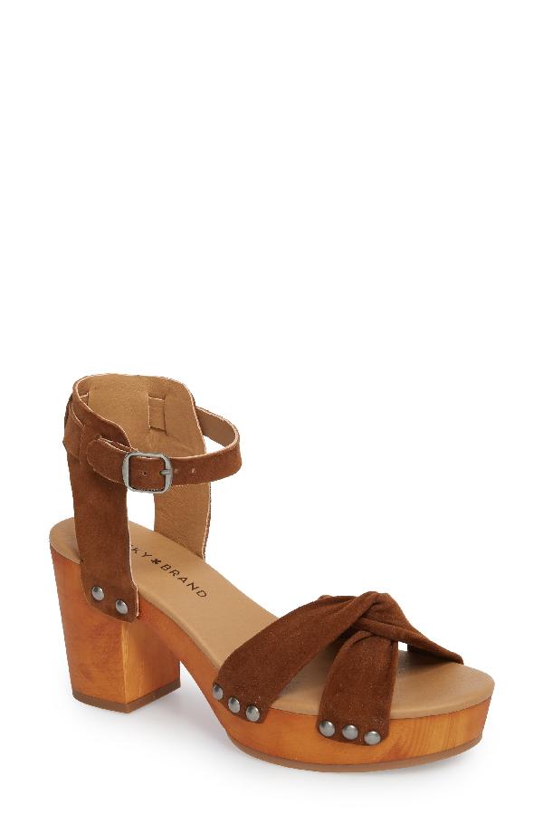 Lucky Brand Whitneigh Sandal In Cedar Suede