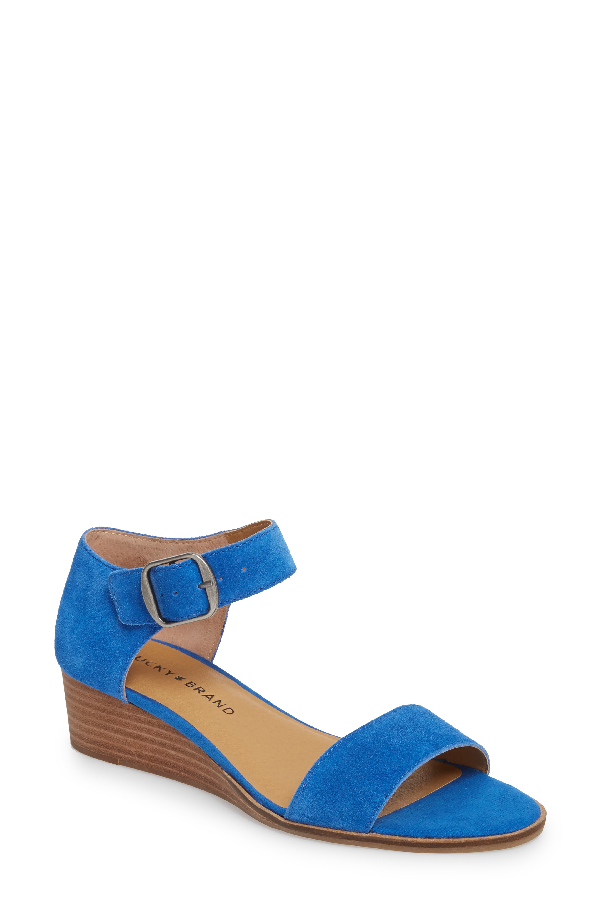 Lucky Brand Riamsee Sandal In Lapis Suede