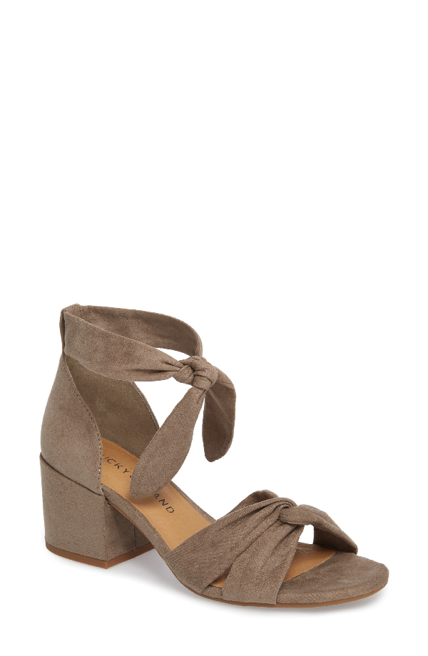 Lucky Brand Xaylah Ankle Strap Sandal In Brindle Leather