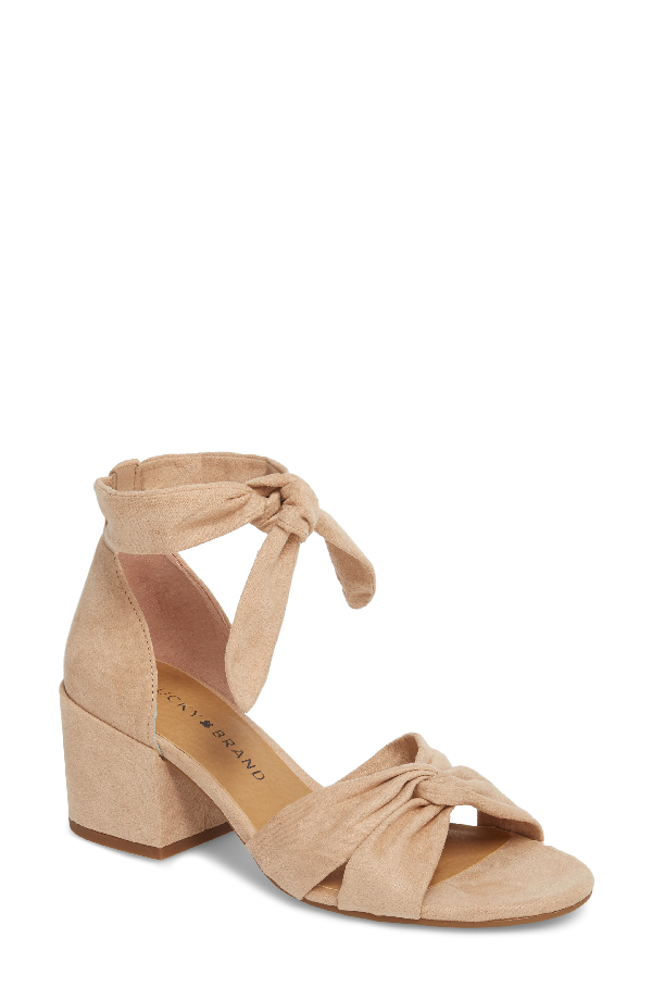Lucky Brand Xaylah Ankle Strap Sandal In Laguna Leather