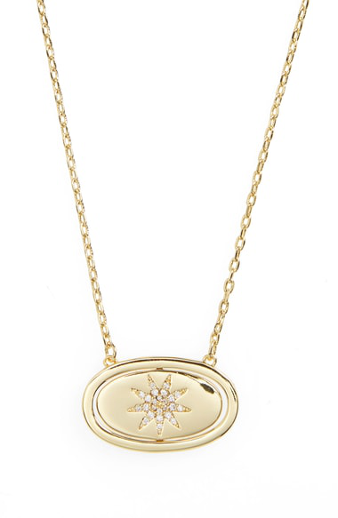Lulu Dk Crystal Pendant Necklace In You Are My Sunshine/ Gold