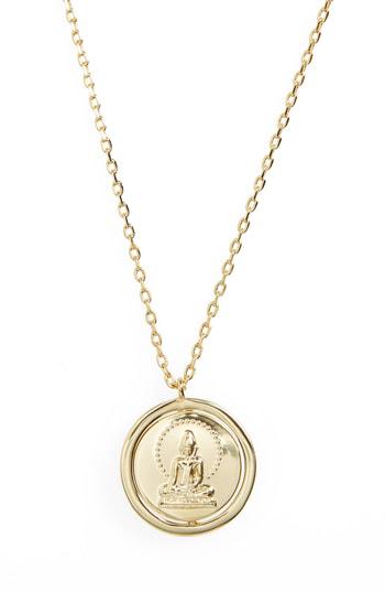 Lulu Dk Breathe Love Letters Flip Pendant Necklace In Breathe/ Gold