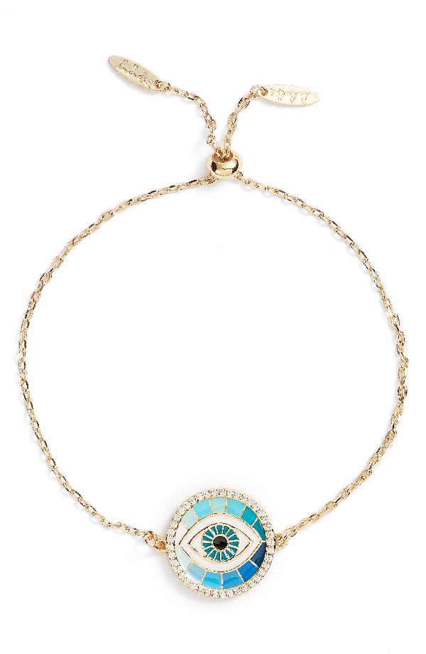 Lulu Dk Protect Pendant Bracelet In Gold