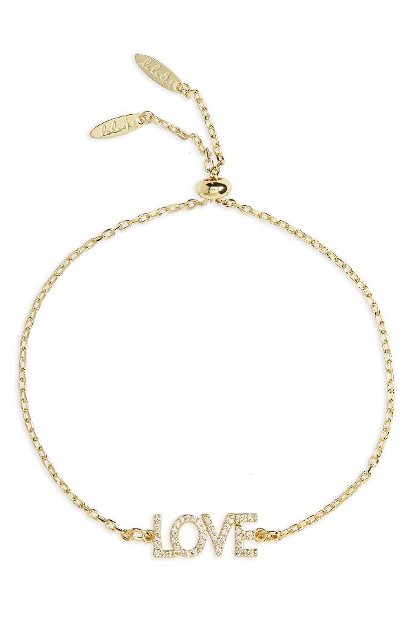 Lulu Dk Love Bracelet In Gold