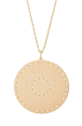 Lulu Dk Xoxo Love Letters Pendant Necklace In Xoxo/ Gold