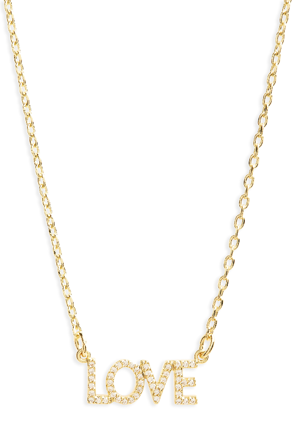 Lulu Dk Love Necklace In Gold