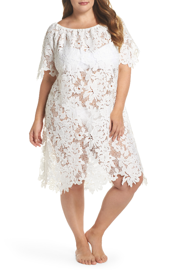 Muche Et Muchette Ode Lace Cover-up Dress In White