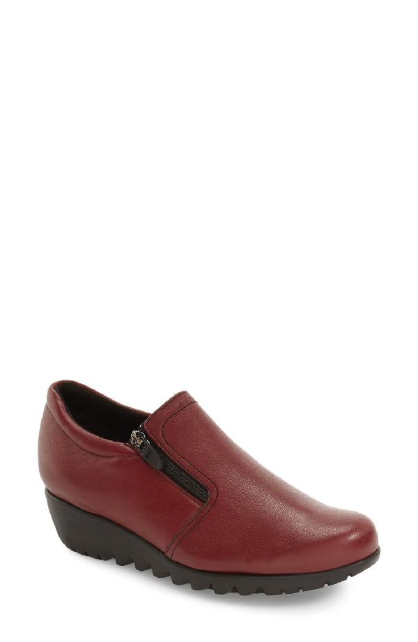 Munro Napoli Zip Bootie In Red Leather